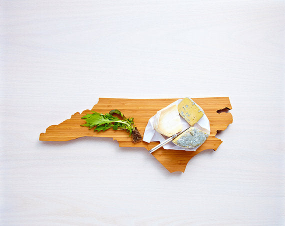 North Carolina Bamboo Cutting Board - Fishes & Loaves