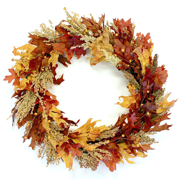 Autumn Leaf & Berries Wreath - Fishes & Loaves