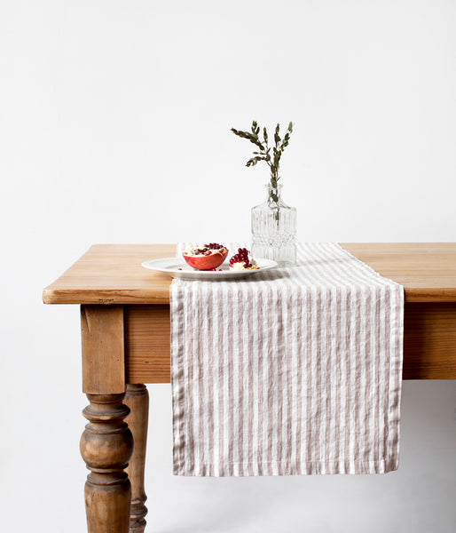 Linen Table Runner - Fishes & Loaves