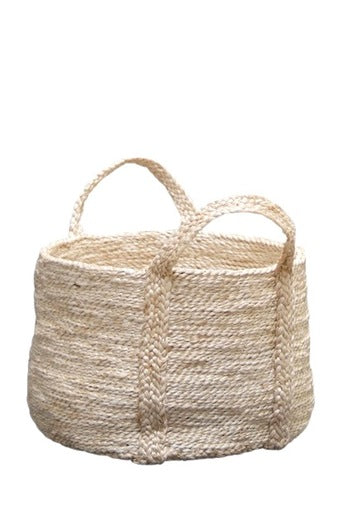 Round Jute Basket - Natural - Fishes & Loaves