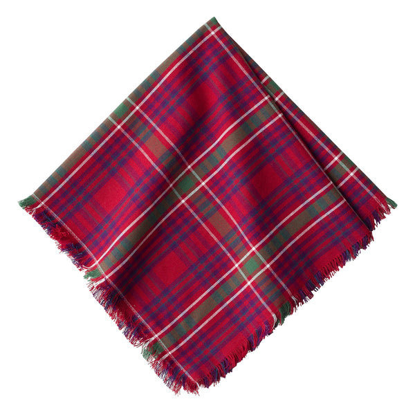 Red Tartan Napkin - Fishes & Loaves