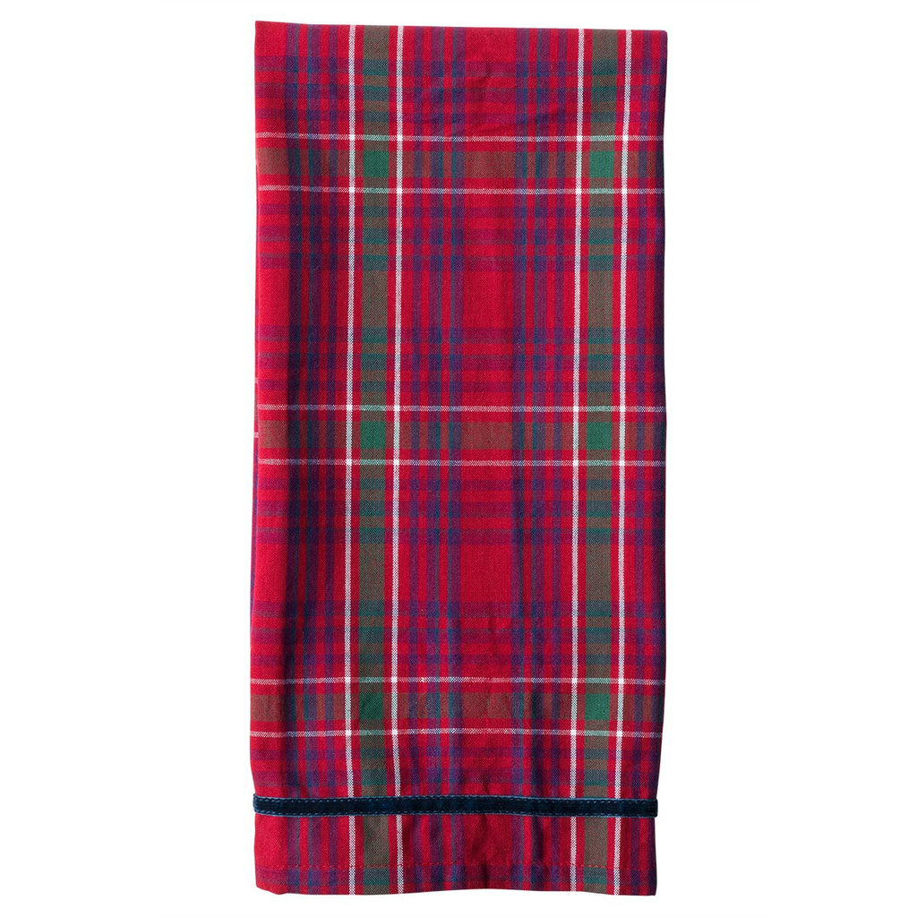 Red Tartan Tea Towel - Fishes & Loaves