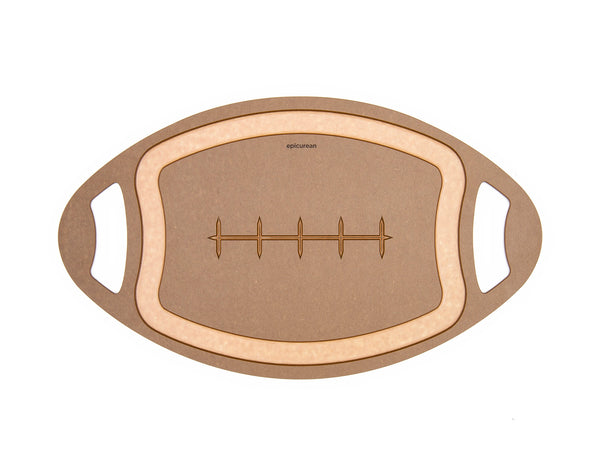 Football Shaped Cutting Board - Fishes & Loaves