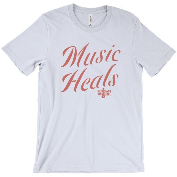 Music Heals Side Script Tee [Available In Pink, White And Blue]