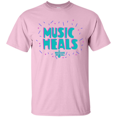 Music Heals Youth Tee [Available In Blue, White, Pink And Gold]