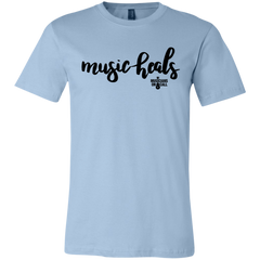 Music Heals Cursive Script Tee [Available In Pink, White And Blue]