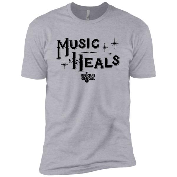 Music Heals Holiday Tee [Available In Heather Grey And Light Blue]