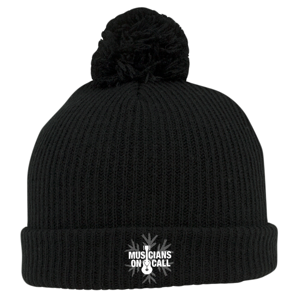 Musicians On Call Embroidered Pom Beanie