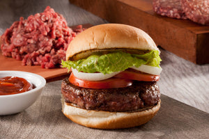 Succulent Grass-Fed Beef Burger