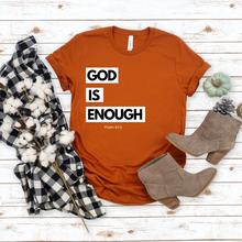 God Is Enough With White Boxes T-Shirt