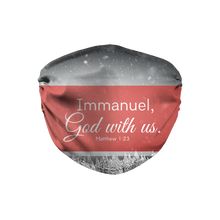 Immanuel God With Us Face Mask