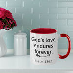God's Love Endures Forever Two-Toned Mug