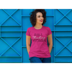 Bible Thinking Woman Hot Pink T-shirt