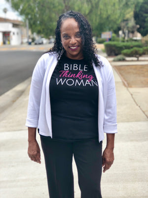 Bible Thinking Woman Ladies' T-shirt