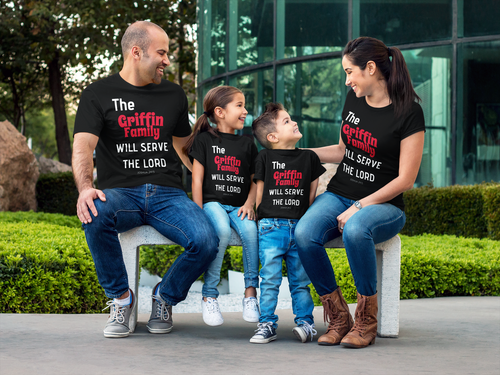 Serve the Lord Family T-Shirt (Customizable)