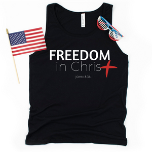Freedom In Christ Unisex Tank Top