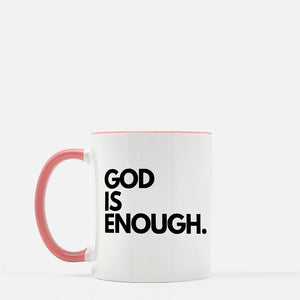 God Is Enough Two-Toned Mug