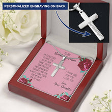 Mom I Love You Personalized Cross Necklace