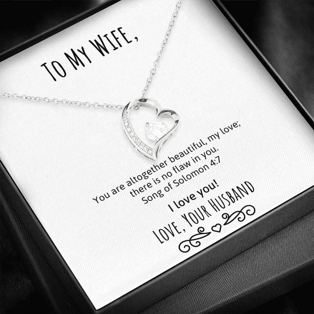 To My Wife You're Beautiful Heart Necklace (Song of Solomon)