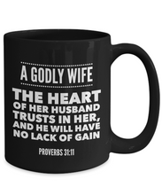 Godly Wife Black Mug