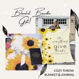 Give Thanks Blanket And Journal Bundle