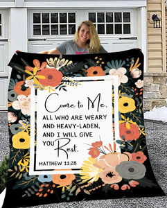 Come To Me All You Who Are Weary Throw Blanket