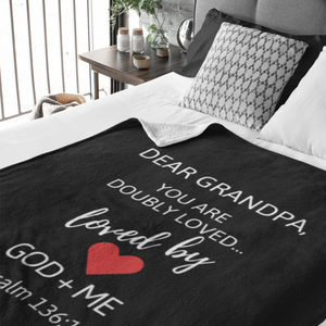 Dear Grandpa Doubly  Loved Throw Blanket (Local Delivery)