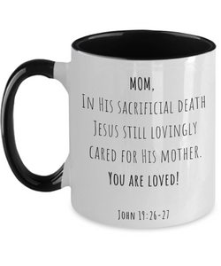 Mom You Are Loved Two-Tone Mug
