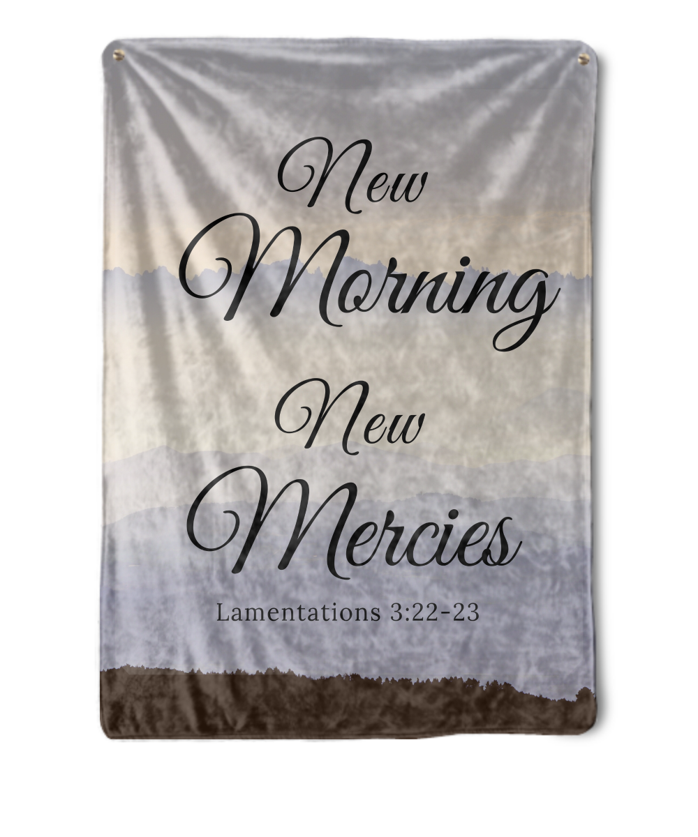 New Morning New Mercies Throw Blanket