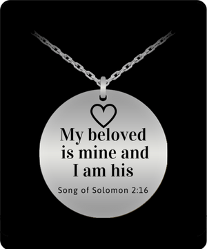 My Beloved Is Mine Engraved Necklace