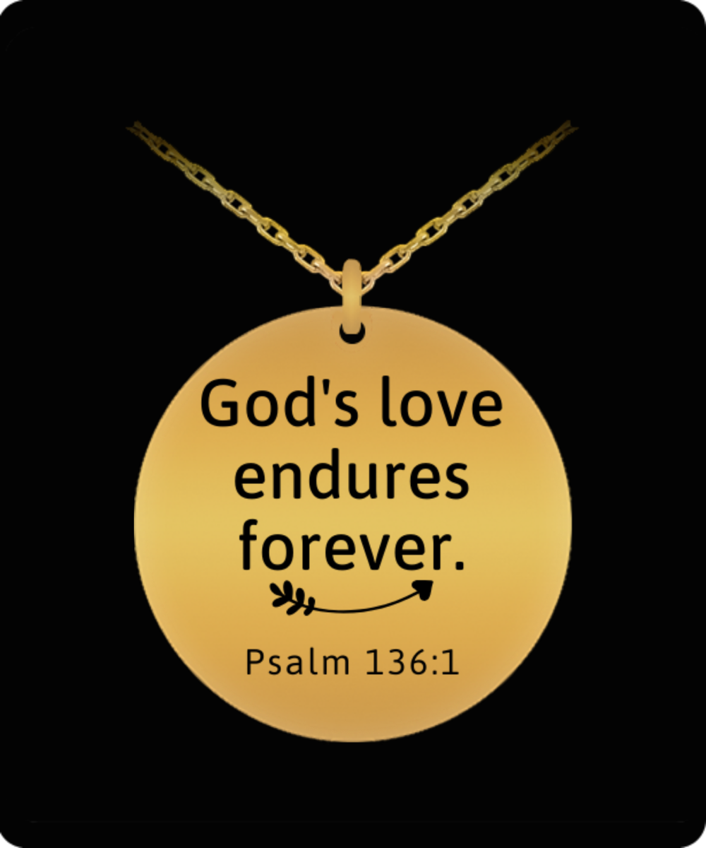 God's Love Endures Forever Engraved Necklace