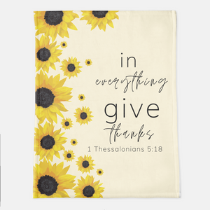 Give Thanks Throw Blanket (Local Delivery)