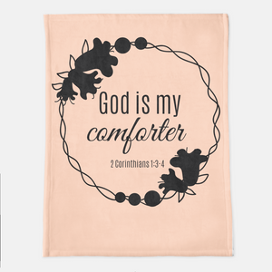 God Is My Comforter Throw Blanket