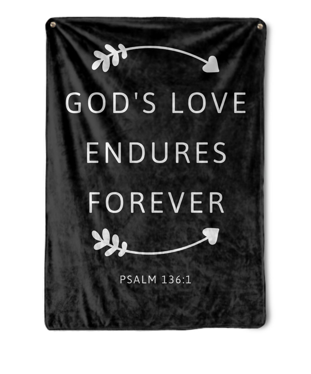 God's Love Endures Forever Throw Blanket