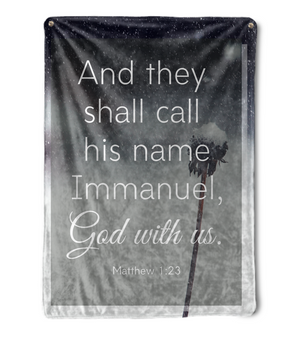 Immanuel, God With Us Throw Blanket