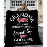 Grandma Doubly Loved Throw Blanket