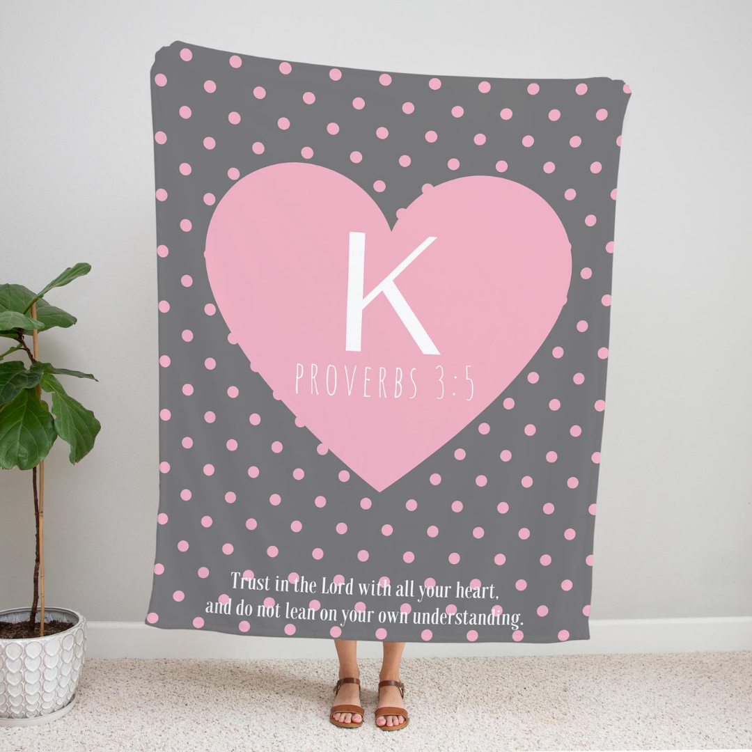 Personalized Polka Dot Throw Blanket
