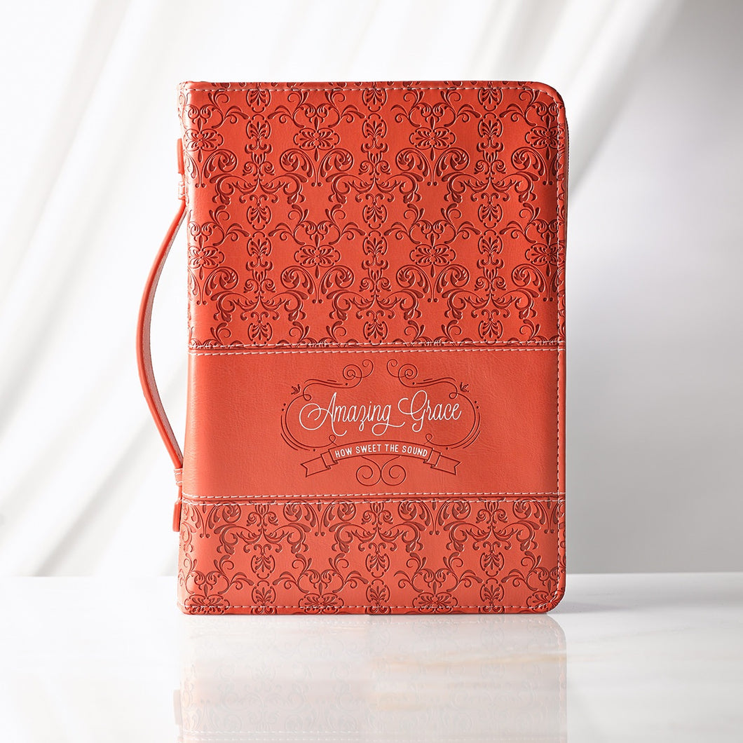 Amazing Grace in Coral Bible Cover