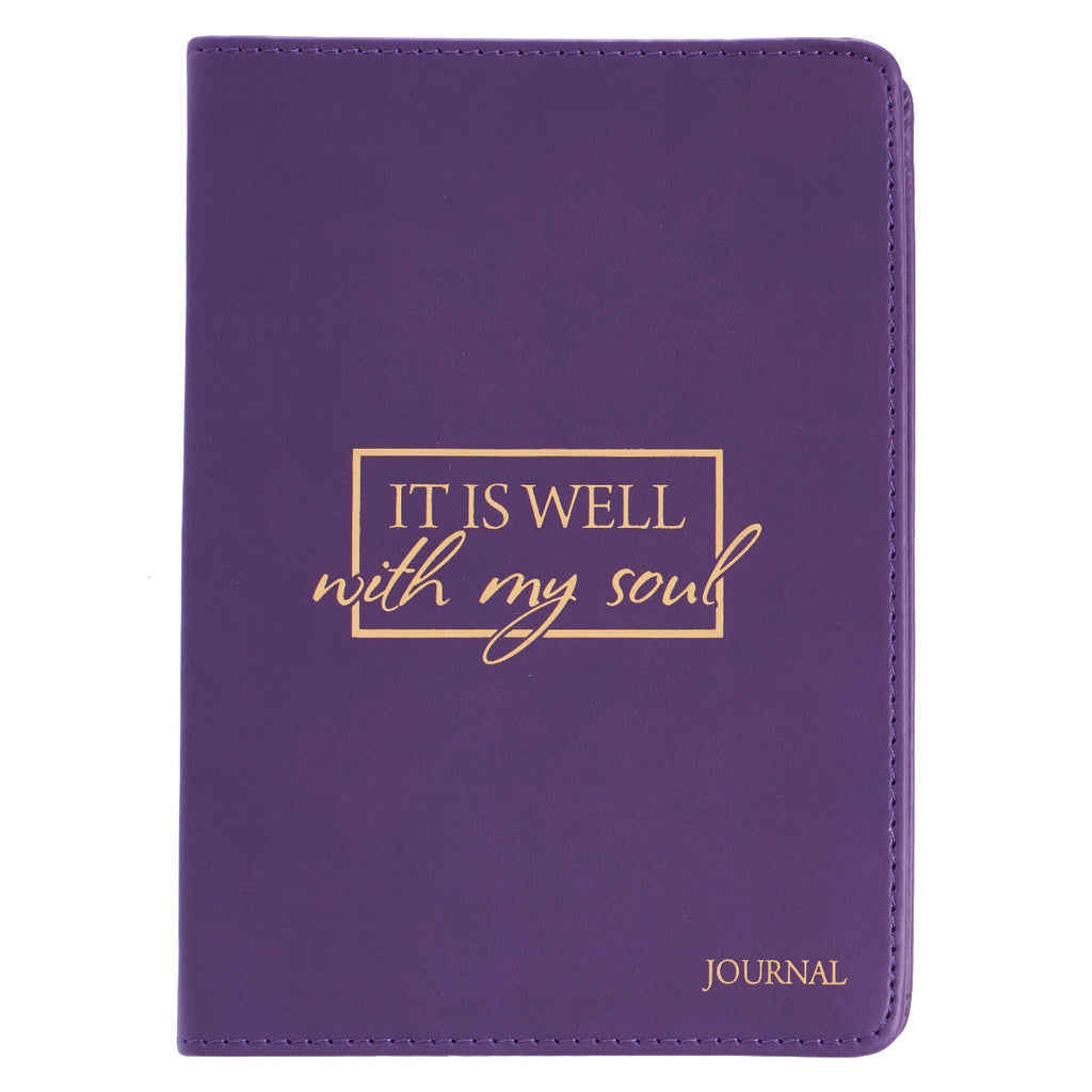 It Is Well With My Soul LuxLeather Journal
