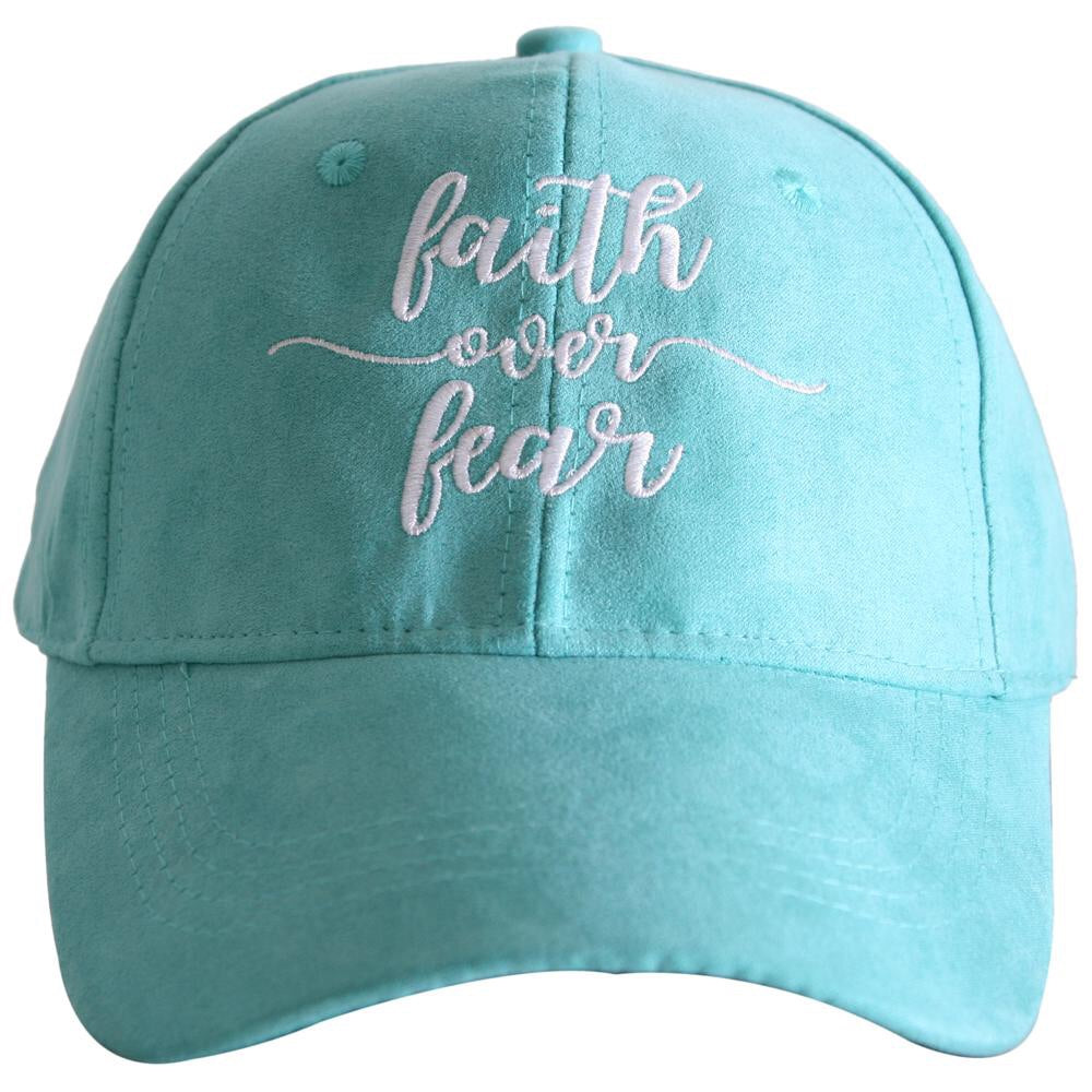Faith Over Fear Suede Hat