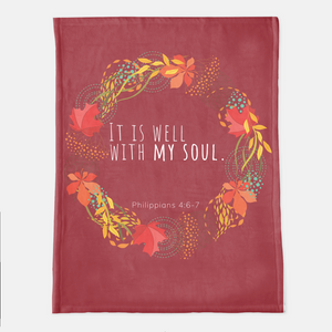 It Is Well With My Soul Throw Blanket