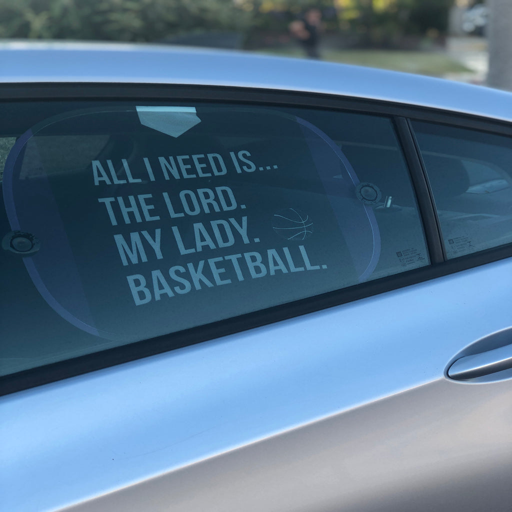 The Lord, My Lady, Basketball Side Window Sunshade