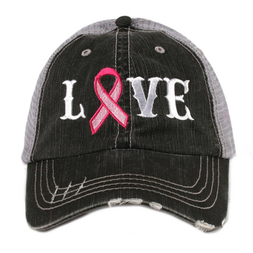 Love Trucker Hat - Breast Cancer Edition