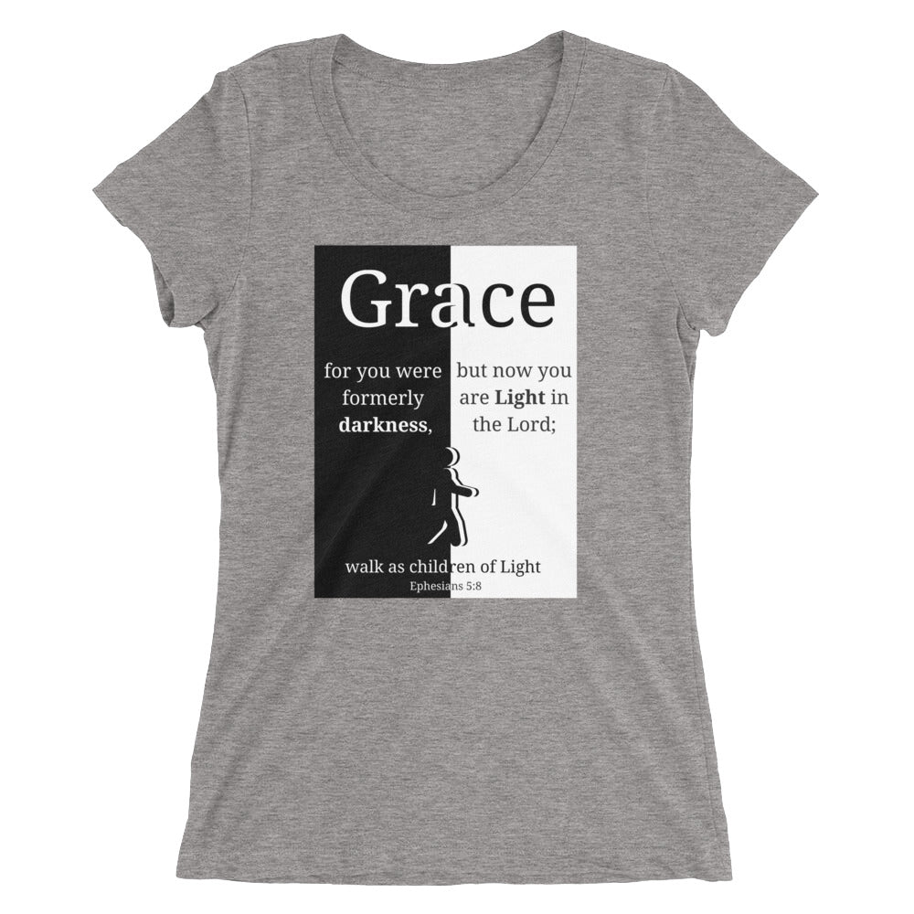 Grace Darkness to Light Ladies' Triblend T-shirt