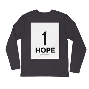 1 Hope Men's Long Sleeve Fitted Crew
