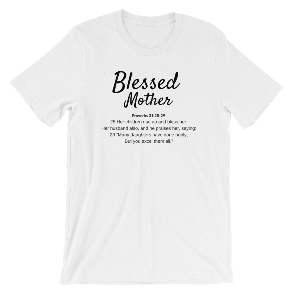 Blessed Mom White T-shirt