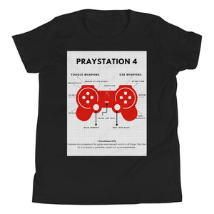 PRAYStation 4 Youth Short Sleeve T-Shirt