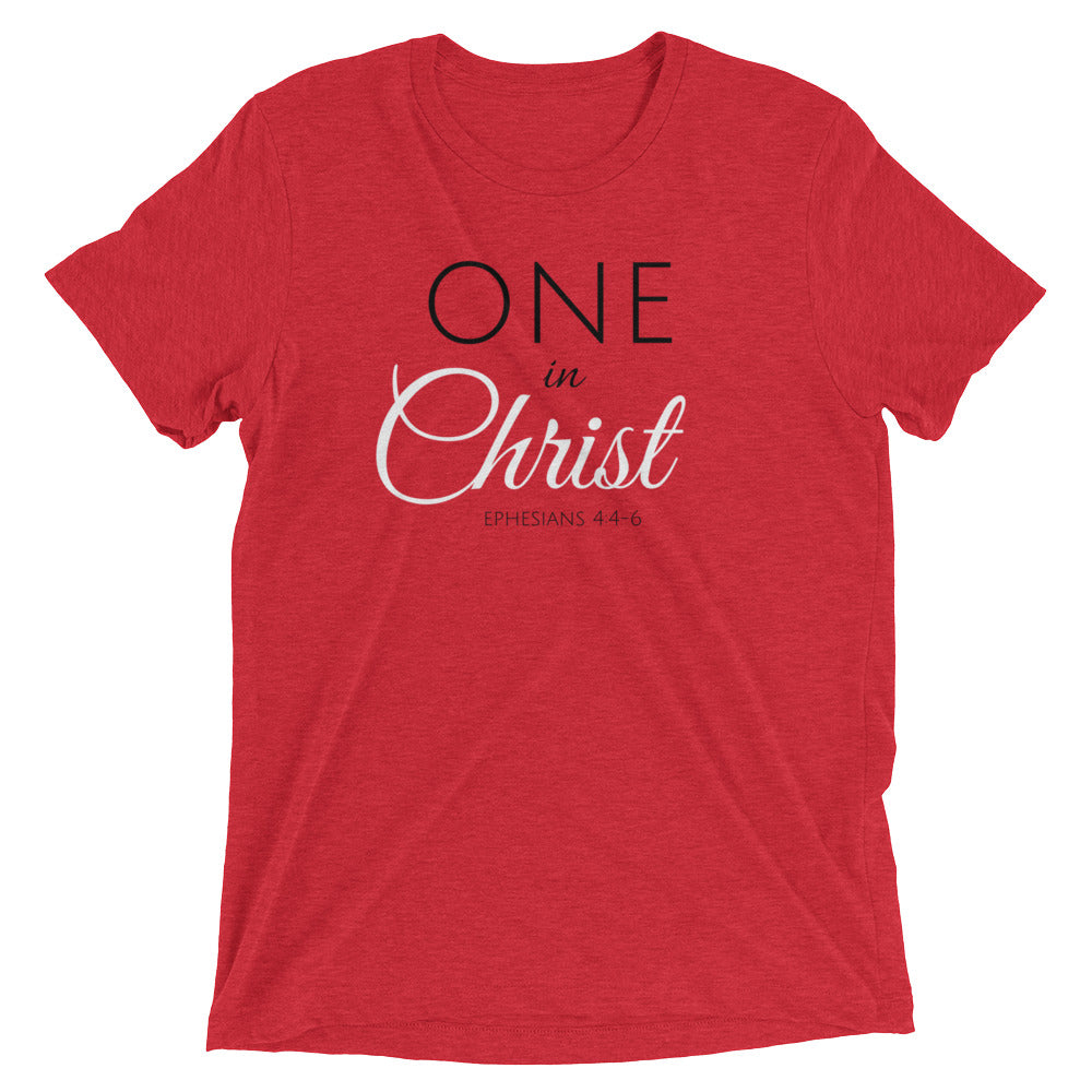 One In Christ Red Ladies' Triblend T-shirt