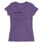 Mother Definition Purple Triblend T-shirt