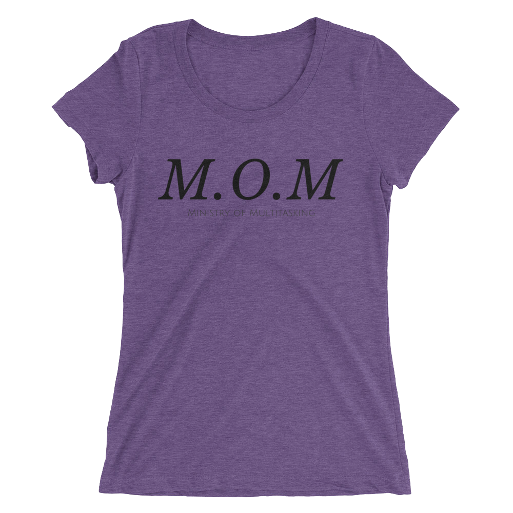 M.O.M. Purple Triblend T-shirt